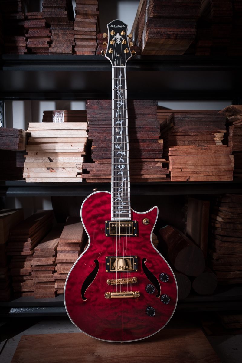 SOLD OUT<br />Custom Shop Heritage Hollow QM TR Vine