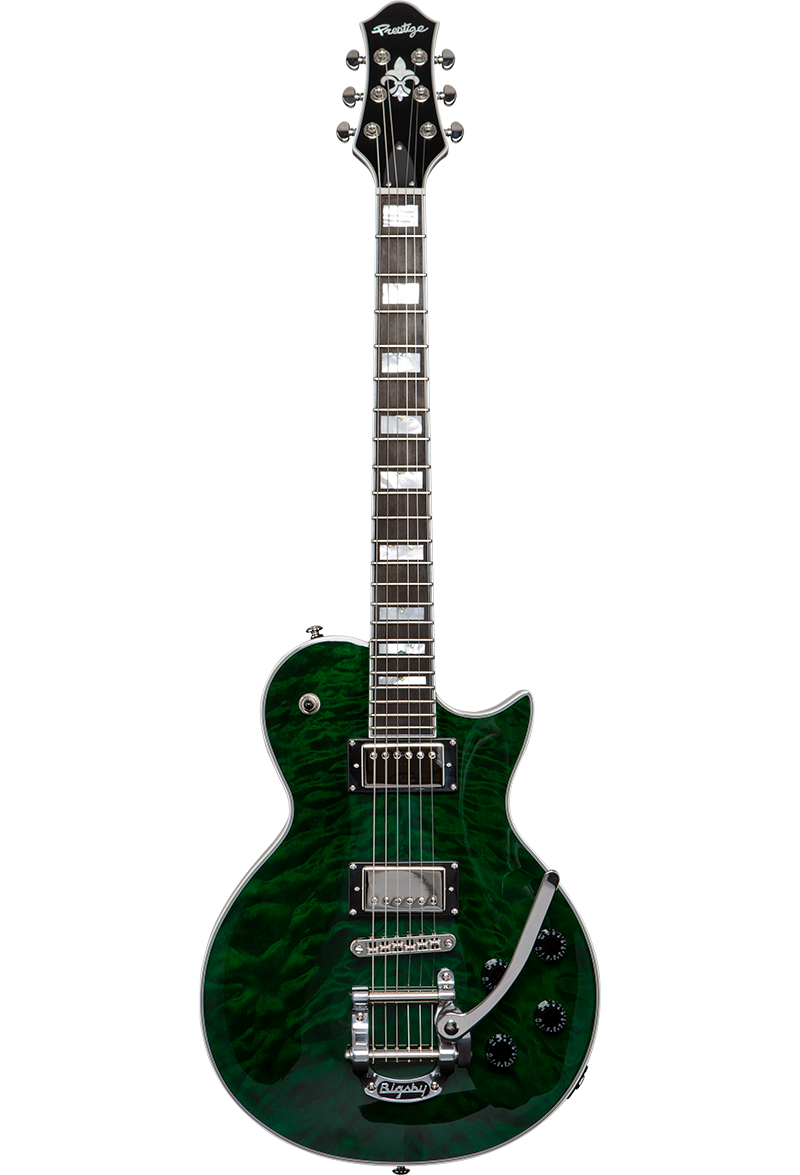 SOLD OUT<br />Custom Shop Heritage Elite Emerald Green w/ Bigsby